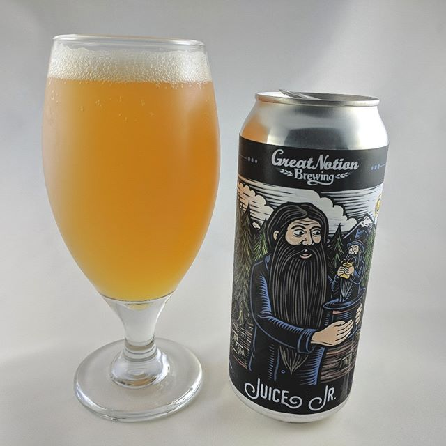 Beer: Juice Jr Style: IPA ABV: 6% IBU: ? Hops: Mosaic ———————————– Brewery: Great Notion – Portland, OR Brewery IG: @greatnotionpdx ———————————– Rating: 5/5 Notes: Fantastic beer and my favorite from Great Notion of ones I've tried so far. Super juicy and so drinkable. No too sweet but certainly has that juicy taste to it. The fruitiness of this beer is very present. ———————————– #greatnotionbrewery #greatnotionbeer #greatnotion #beer #thebeersbeer #beers #cheers #brewery #brew #beersoftheworld #hophead #hops #microbrew #drinkbeer #brewposts #juicyipa #instabeer