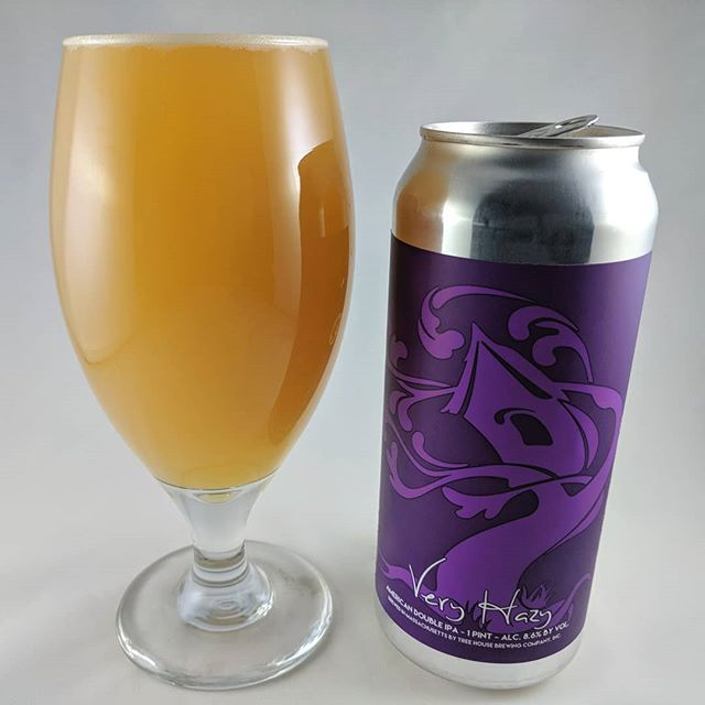 Beer: Very Hazy Style: DIPA ABV: 8.6% IBU: 80 Hops: ? ———————————– Brewery: Tree House Brewing Company – Charlton, MA Brewery IG: @treehousebrewco ———————————- Rating: 4.75/5 Notes: Super good. Big flavor and so drinkable. Notes of pineapple and grapefruit are present but not overpowering. Very drinkable and smooth with a lot of flavor. Can art: Standard Tree House can style. ———————————– What's your thoughts on this Very Hazy? ———————————– Shout out to @abeerhasnoname for the hook up!
