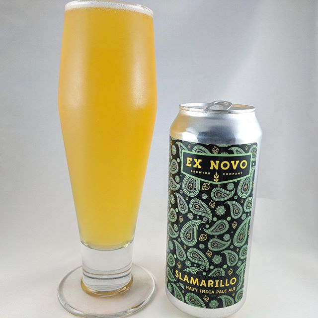 Beer: Slamarillo Style: IPA ABV: 7% IBU: – Hops: ? ———————————– Brewery: Ex Novo Brewing – Portland, OR Brewery IG: @exnovobrew ———————————– Rating: 4.75/5 Notes: Nice and smooth. Not too hazy or juicy but very, very tasty. This is really good. Not bitter but there's a ton of hops in there. Can Art: Cool tapestry looking design. The little hops in there are awesome. ———————————– What do you think about this Slamarillo?
