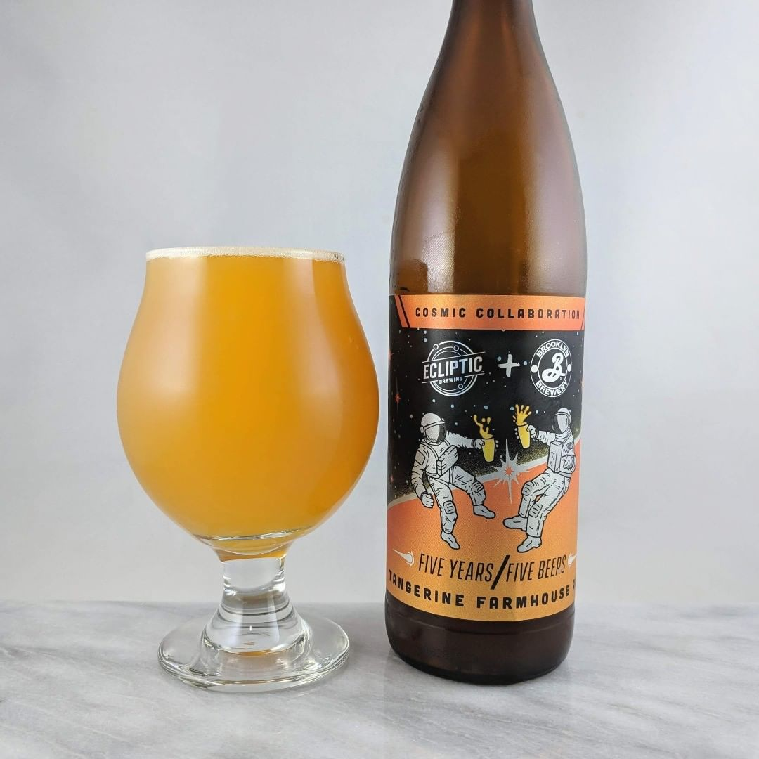 Beer: Ecliptic + Brooklyn Brewery: Tangerine Farmhouse Ale
