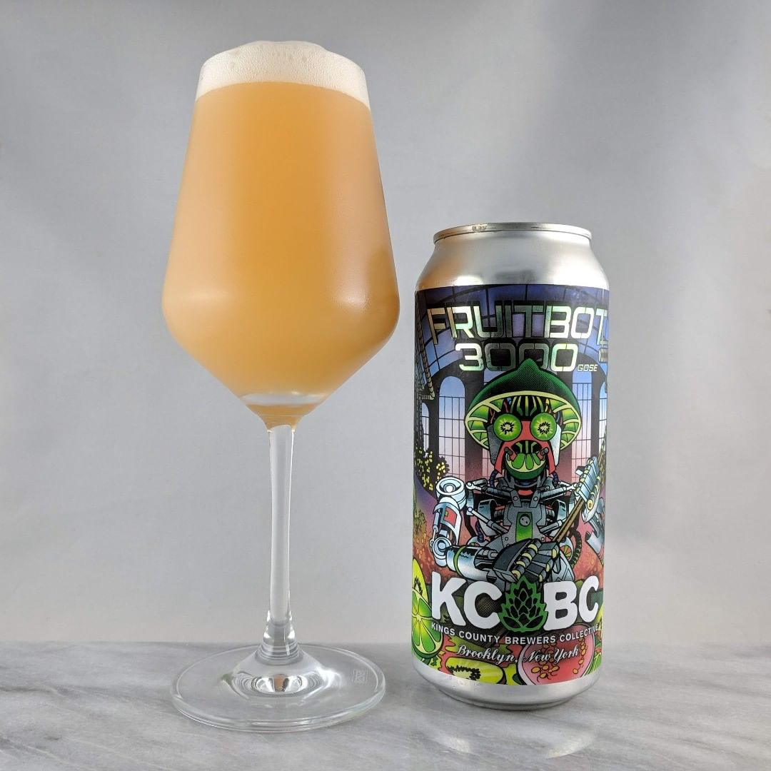 Beer: Fruitbot 3000 Style: Sour – Gose ABV: 4.5% IBU: – Hops: ? ———————————– Brewery: Kings County Brewers Collective –  Brooklyn, NY Brewery IG: @kcbcbeer ———————————– Rating: 4.25/5 Notes: Very tasty and nicely tart. Lots of flavors of kiwi and guava. Looking forward to more brews from KCBC. Can art: Awesome design  Drinkage: No date on can. ———————————-