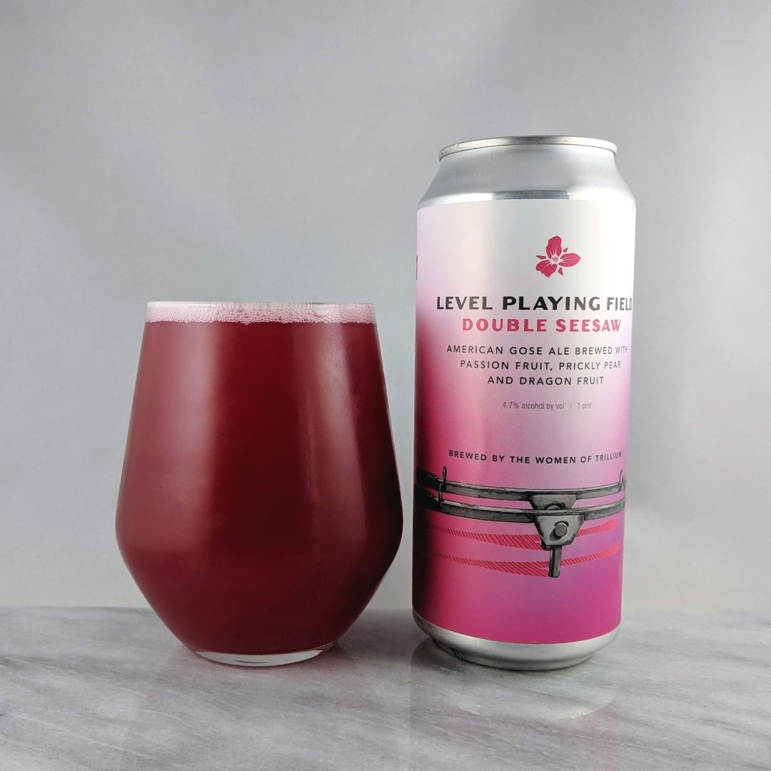 Beer: Level Playing Field: Double Seesaw Style: Gose ABV: 4.7% IBU: – Hops: ? ———————————– Brewery: Trillium Brewing Company – Canton, MA Brewery IG: @trilliumbrewing ———————————– Rating: 4/5 Notes: Nice and tart beer with tons of fruit flavor. Really like the pear I'm picking up in there. Very nice and light. Can art: Nothing crazy from Trillium but awesome they did a beer brewed by the woman of Trillium. Drinkage : 26 days after date on can ———————————–