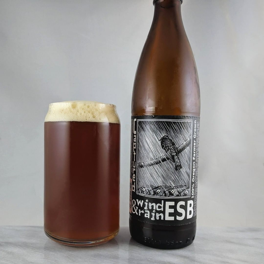 Beer: Wind and Rain Style: ESB ABV: 4.7% IBU: – Hops: ? ———————————– Brewery: Captured By Porches – Gresham, OR Brewery IG: ? ———————————– Rating: 3.75/5 Notes: Malt and caramel is what I'm getting mostly here. Nice and smooth with plenty of flavor. Awesome that it's 100% Oregon farm grown. Bottle art: Really dig the block print from Wharton Esherick. Drinkage: No date on bottle. ———————————–
