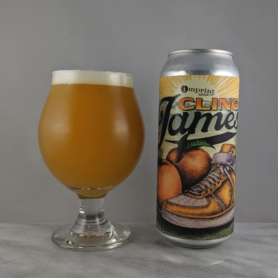 𝐁𝐞𝐞𝐫: Cling James 𝐒𝐭𝐲𝐥𝐞: Sour IPA 𝐀𝐁𝐕: 6% 𝐈𝐁𝐔: – 𝐇𝐨𝐩𝐬: Galaxy, Amarillo, and Rakau ———————————– 𝐁𝐫𝐞𝐰𝐞𝐫𝐲: Imprint Beer Co – Hatfield, PA 𝐁𝐫𝐞𝐰𝐞𝐫𝐲 𝐈𝐆: @imprintbeer ———————————– 𝐑𝐚𝐭𝐢𝐧𝐠: 4.25/𝟓 𝐍𝐨𝐭𝐞𝐬: Great! The peach flavor rings right in. Good King James reference as I love basketball and I think James is one of the best players of our time even though he's in the news lately for some questionable stuff. TIL: I never knew about cling peaches verse freestone peaches. Makes so much sense. No hop flavor or bitterness, pretty sweet taste and very fruity.  𝐂𝐚𝐧 𝐀𝐫𝐭: Sweet. Liking the shoes and peaches illustration.  𝐃𝐫𝐢𝐧𝐤𝐚𝐠𝐞: 13 days after date on can.
