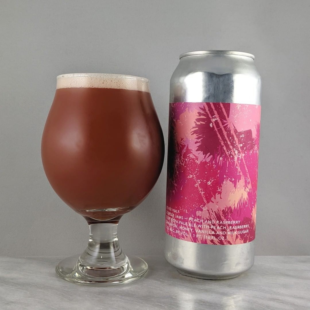 ????: Cobbler Jams ?????: Sour IPA ???: 8.2% ???: – ????: Citra, Kahatu and Cashmere ———————————– ???????: Other Half Brewing Co. – Brooklyn, NY ??????? ??: @OtherHalfNYC ———————————– ??????: 3.75/? ?????: Some interesting flavors in here. Almost a bit too much. It does tasty like a cobbler jam. I would have given this a higher rating with a bit less cinnamon I think.  ??? ???:  Cool abstract design.  ????????: Little late at 34 days after date on can.