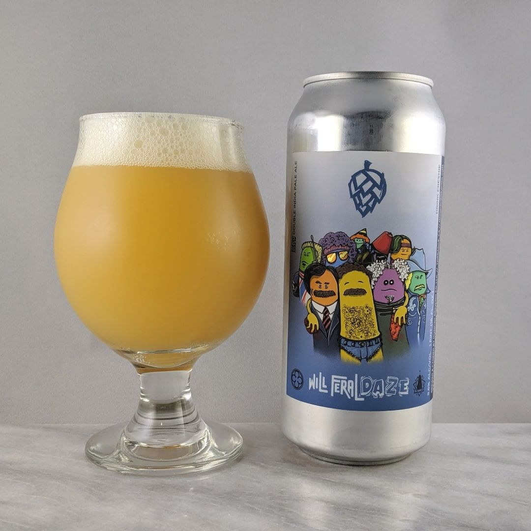 𝐁𝐞𝐞𝐫: Will Feral Daze 𝐒𝐭𝐲𝐥𝐞: DIPA 𝐀𝐁𝐕: 8.6% 𝐈𝐁𝐔: – 𝐇𝐨𝐩𝐬: Citra, Simcoe, and Riwaka ———————————– 𝐁𝐫𝐞𝐰𝐞𝐫𝐲: Monkish Brewing Company – Torrance, CA 𝐁𝐫𝐞𝐰𝐞𝐫𝐲 𝐈𝐆: @monkishbrewing ———————————– 𝐑𝐚𝐭𝐢𝐧𝐠: 4.25/𝟓 𝐍𝐨𝐭𝐞𝐬: A solid hazy from Monkish. Lots of favor and some hoppiness. Not sweet. Awesome.  𝐂𝐚𝐧 𝐀𝐫𝐭: Great. Love Will Ferrell and liking the cool artwork of his past characters.  𝐃𝐫𝐢𝐧𝐤𝐚𝐠𝐞: 6 days after date on can