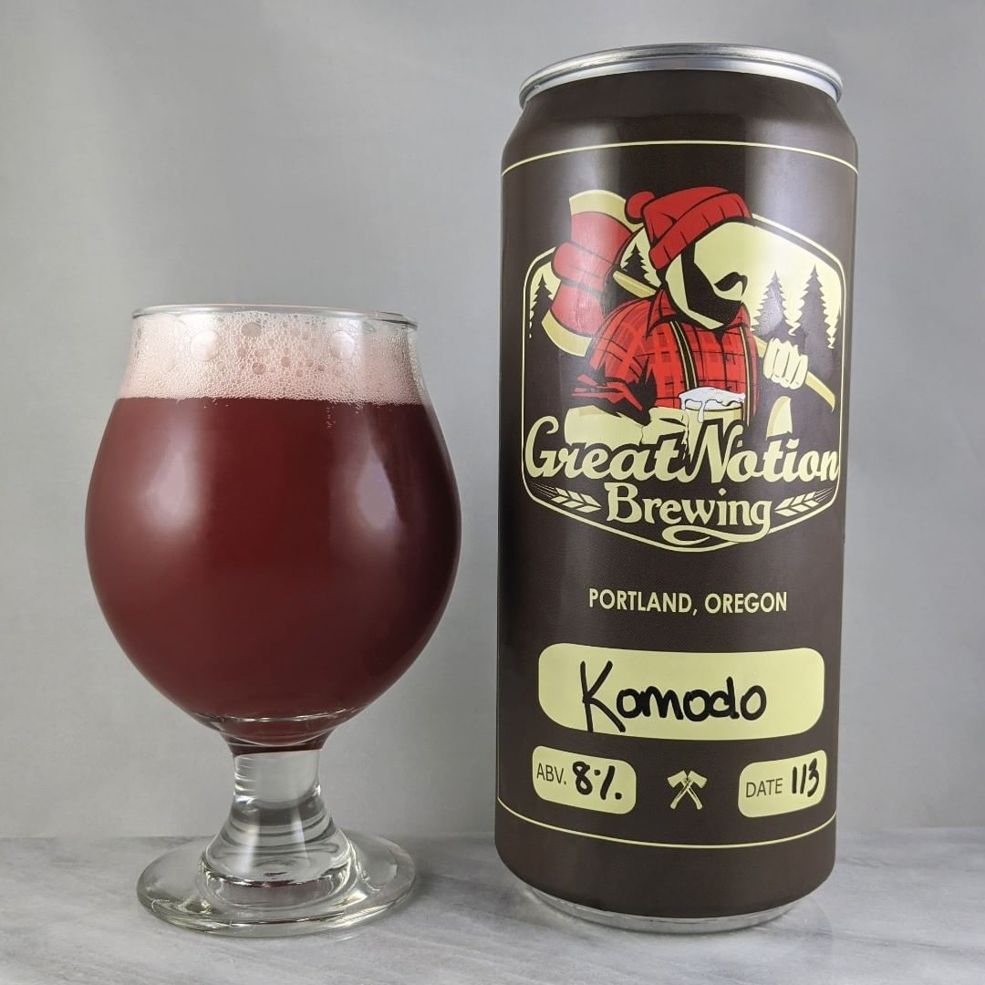 ????: Komodo ?????: Fruit IPA ???: 8% ???: – ????: Mosaic and Motueka ———————————– ???????: Great Notion Brewing – Portland, OR ??????? ??: @greatnotionpdx ———————————– ??????: 4/? ?????: A tasty beer with some great fruity flavors.  It's similar to a raspberry cake type taste. The tail end is a little strange because of hops in there which brings a slight hoppy after taste. Not bad at all though and it gets better the more you drink of it :) ??? ???: Standard Great Notion crowler.  ????????: Same day as date date on can.