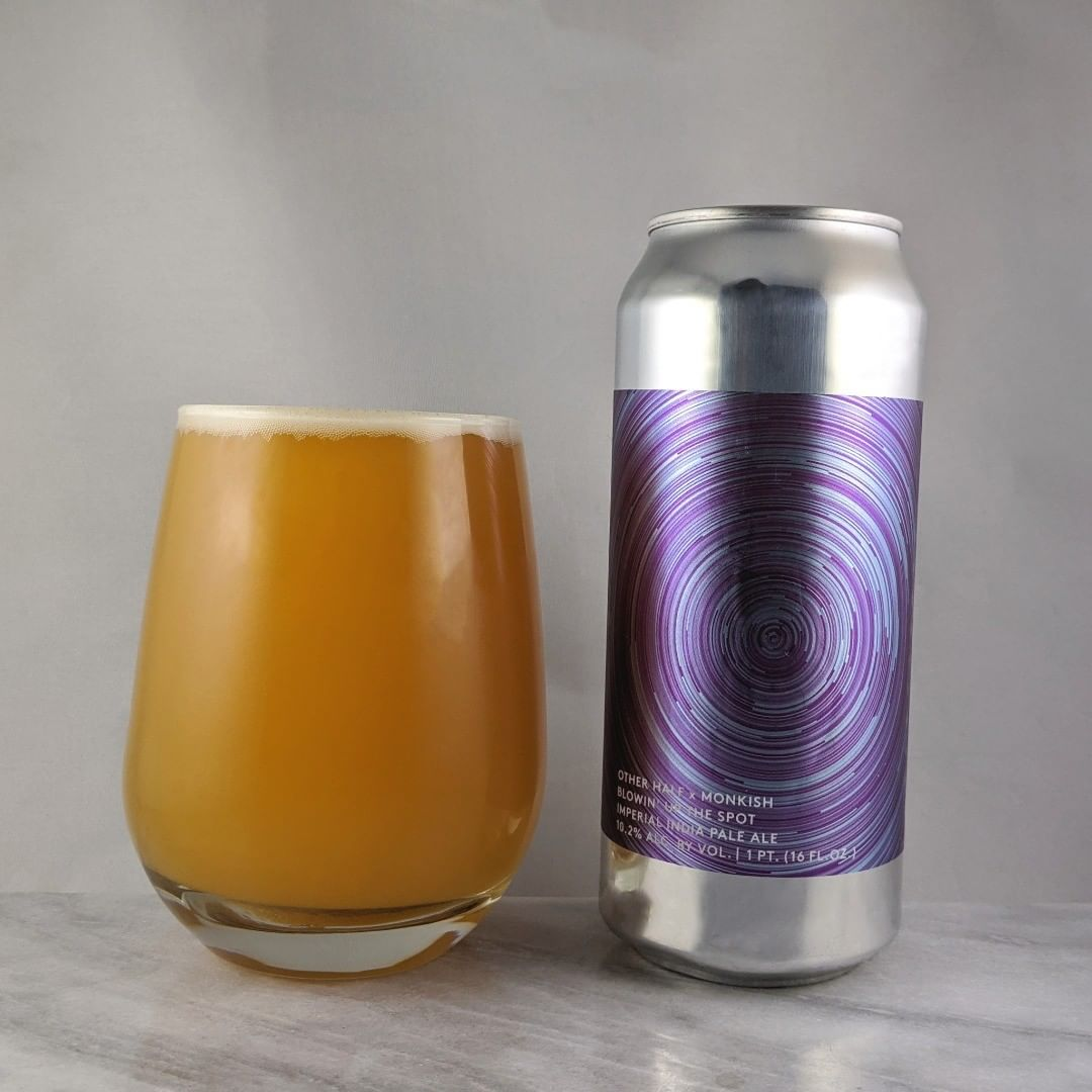 𝐁𝐞𝐞𝐫: Blowin' Up the Spot 𝐒𝐭𝐲𝐥𝐞: DIPA 𝐀𝐁𝐕: 10.2% 𝐈𝐁𝐔: – 𝐇𝐨𝐩𝐬: Nelson Sauvin, Motueka, El Dorado, Citra, and Mosaic ———————————– 𝐁𝐫𝐞𝐰𝐞𝐫𝐲: Other Half Brewing Co. – Brooklyn, NY and Monkish Brewing Co. – Torrance, CA 𝐁𝐫𝐞𝐰𝐞𝐫𝐲 𝐈𝐆: @OtherHalfNYC and @monkishbrewing ———————————– 𝐑𝐚𝐭𝐢𝐧𝐠: 4/𝟓 𝐍𝐨𝐭𝐞𝐬: Super creamy and drinkable beer. Nicely done collab from these two.  𝐂𝐚𝐧 𝐀𝐫𝐭:  Super cool spiral. 𝐃𝐫𝐢𝐧𝐤𝐚𝐠𝐞: 16 days after date on can.