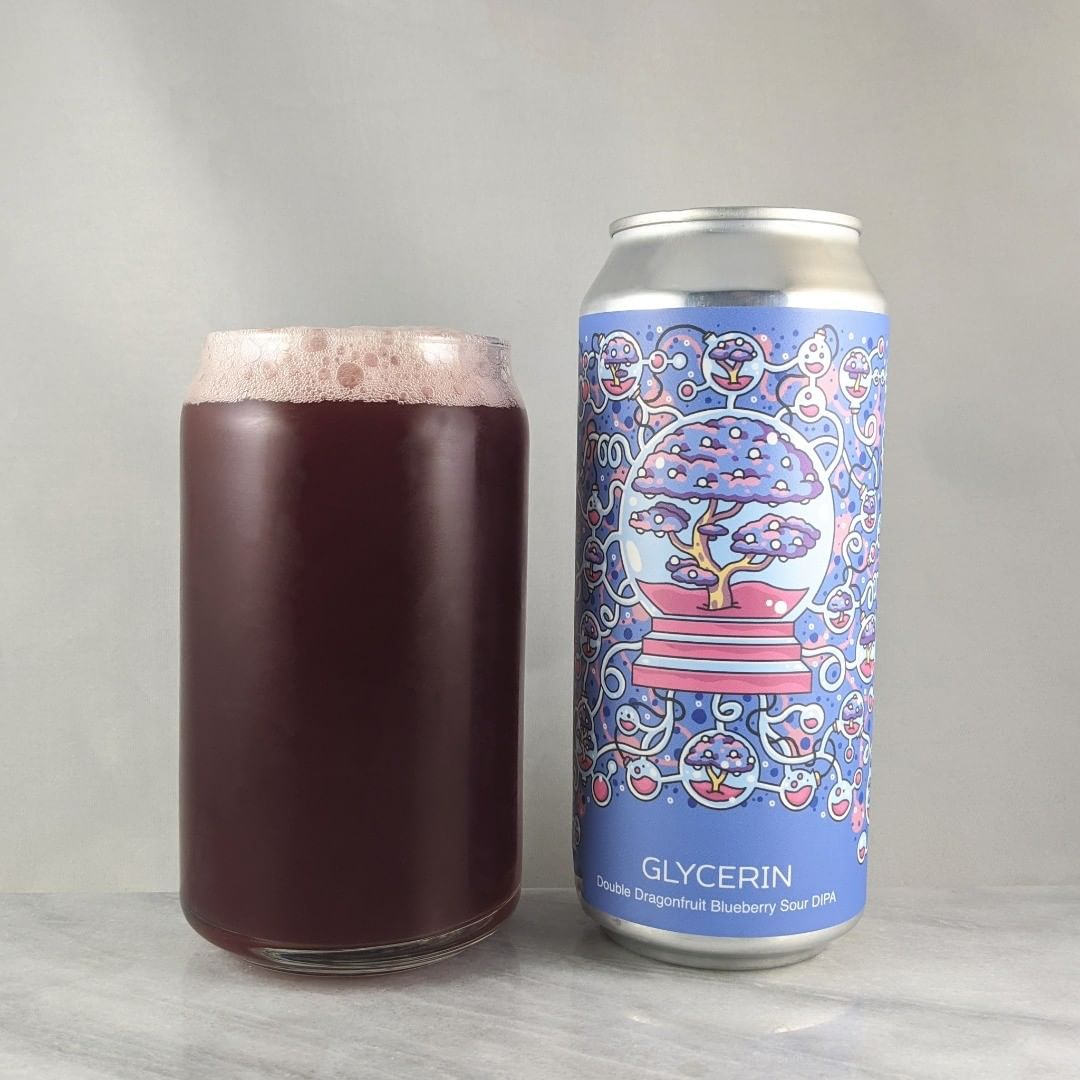 ????: Glycerin – Dragonfruit Blueberry ?????: Sour ???: 8% ???: – ????: Mosaic and Galaxy ———————————– ???????: Hudson Valley Brewing – Beacon, NY ??????? ??: @hudsonvalleybrewery ———————————– ??????: 4.25/? ?????: A sour double IPA with tons of fruit… Well done for 8%. It's straight up fruit juice. Not tart or very biter but a slightly. It's pretty sweet.  ??? ???: Always sick work on Hudson Valley cans  ????????: About a week after release.