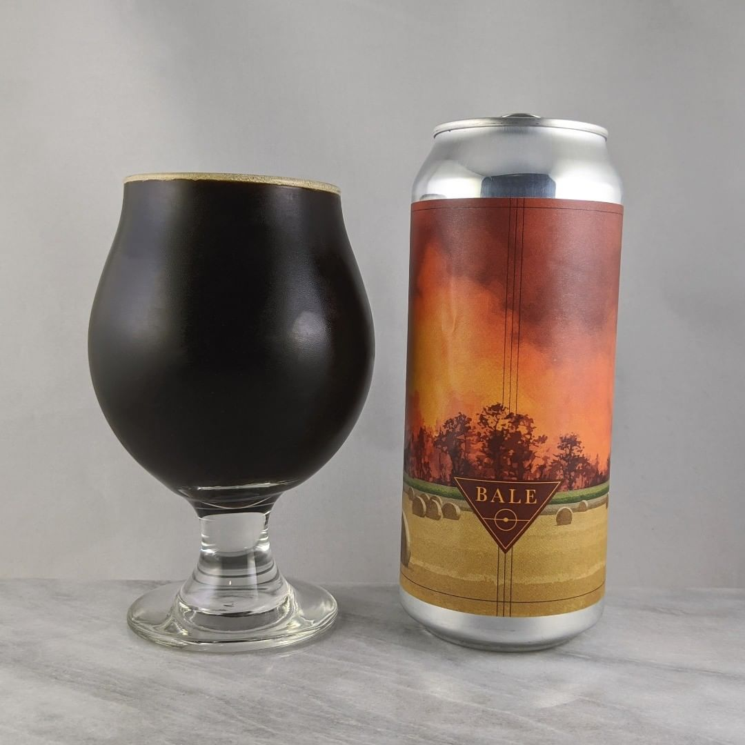 𝐁𝐞𝐞𝐫: Bale 𝐒𝐭𝐲𝐥𝐞: Stout 𝐀𝐁𝐕: 13.5% 𝐈𝐁𝐔: – 𝐇𝐨𝐩𝐬: – ———————————– 𝐁𝐫𝐞𝐰𝐞𝐫𝐲: Aslin Beer Company – Alexandria, VA and Casa Agria Specialty Ales – Oxnard, CA 𝐁𝐫𝐞𝐰𝐞𝐫𝐲 𝐈𝐆: @aslinbeerco and @casa_agria ———————————– 𝐑𝐚𝐭𝐢𝐧𝐠: 4.75/𝟓 𝐍𝐨𝐭𝐞𝐬: One of my favorite stouts and a high rating… That's saying a lot because I'm not typically a stout fan but this one convinced me to give stouts more thought. Very tasty with the right balance and amount of adjuncts. Super good. Just watch out with that 13.5 percent.  𝐂𝐚𝐧 𝐀𝐫𝐭: The sky in the illustration is awesome. Really like this can art.  𝐃𝐫𝐢𝐧𝐤𝐚𝐠𝐞: 3 months after release. Held up nicely.