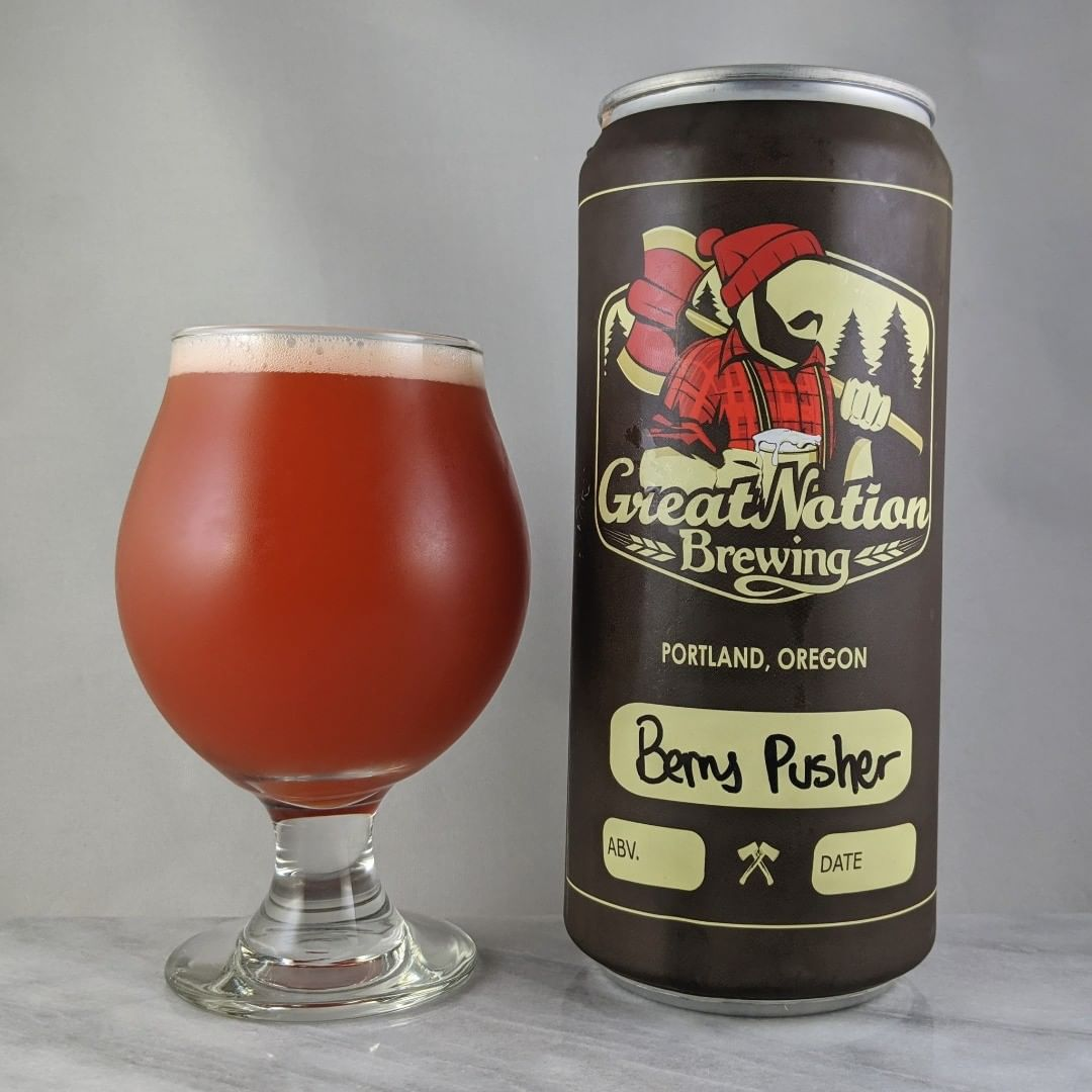 𝐁𝐞𝐞𝐫: Berry Pusher 𝐒𝐭𝐲𝐥𝐞: Fruit/Sour 𝐀𝐁𝐕: 5.5% 𝐈𝐁𝐔: – 𝐇𝐨𝐩𝐬: – ———————————– 𝐁𝐫𝐞𝐰𝐞𝐫𝐲: Great Notion Brewing – Portland, OR 𝐁𝐫𝐞𝐰𝐞𝐫𝐲 𝐈𝐆: @greatnotionpdx ———————————– 𝐑𝐚𝐭𝐢𝐧𝐠: 4.5/𝟓 𝐍𝐨𝐭𝐞𝐬: This is similar to blueberry muffins with strawberry flavor in there. Some sour and tartness. Sweet. Fruity. If you like blueberry muffins you'll like this one.  𝐂𝐚𝐧 𝐀𝐫𝐭: Standard Great Notion crowler. 𝐃𝐫𝐢𝐧𝐤𝐚𝐠𝐞: Same day as canned.