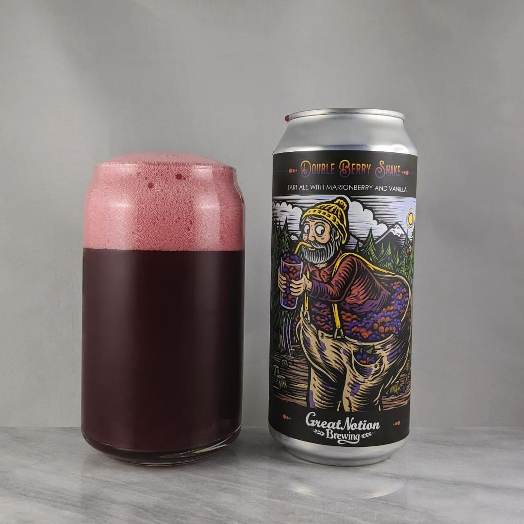 𝐁𝐞𝐞𝐫: Double Berry Shake 𝐒𝐭𝐲𝐥𝐞: Fruit/Sour 𝐀𝐁𝐕: 9% 𝐈𝐁𝐔: – 𝐇𝐨𝐩𝐬: – ———————————– 𝐁𝐫𝐞𝐰𝐞𝐫𝐲: Great Notion Brewing – Portland, OR 𝐁𝐫𝐞𝐰𝐞𝐫𝐲 𝐈𝐆: @greatnotionpdx ———————————– 𝐑𝐚𝐭𝐢𝐧𝐠: 4.5/𝟓 𝐍𝐨𝐭𝐞𝐬: I really like the flavor combo of marrionberry and vanilla. I think I like this newer canned batch slightly more than the crowler batch I previously reviewed. Tart and sweet.  𝐂𝐚𝐧 𝐀𝐫𝐭: Looks like a lot of fruit in those pants.  𝐃𝐫𝐢𝐧𝐤𝐚𝐠𝐞: 2 days after date on can