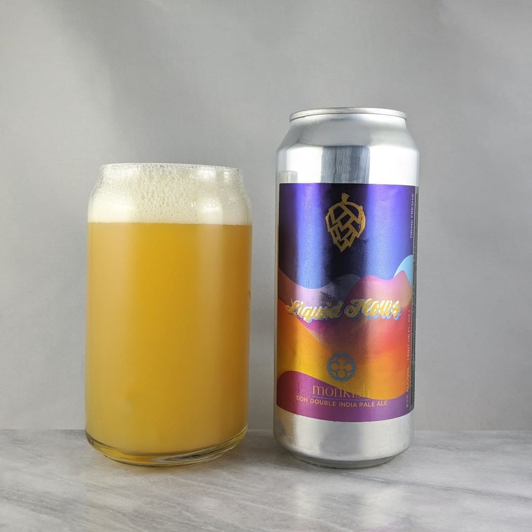 𝐁𝐞𝐞𝐫: Liquid Flows (Batch 2) 𝐒𝐭𝐲𝐥𝐞: DIPA 𝐀𝐁𝐕: 8.6% 𝐈𝐁𝐔: – 𝐇𝐨𝐩𝐬: Nelson Sauvin ———————————– 𝐁𝐫𝐞𝐰𝐞𝐫𝐲: Monkish Brewing Company – Torrance, CA 𝐁𝐫𝐞𝐰𝐞𝐫𝐲 𝐈𝐆: @monkishbrewing ———————————– 𝐑𝐚𝐭𝐢𝐧𝐠: 4/𝟓 𝐍𝐨𝐭𝐞𝐬: Solid beer. I'm getting maybe a little cantaloupe flavor in here and I'm not complaining.  Crushable goodness. 𝐂𝐚𝐧 𝐀𝐫𝐭: Solid water color looking design.  Those painted hills. 𝐃𝐫𝐢𝐧𝐤𝐚𝐠𝐞: Way late at almost 2 months old.