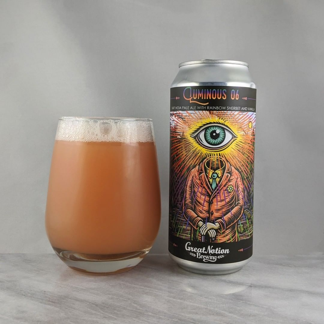 𝐁𝐞𝐞𝐫: Luminous 06 𝐒𝐭𝐲𝐥𝐞: Fruit/Sour 𝐀𝐁𝐕: 5.75% 𝐈𝐁𝐔: – 𝐇𝐨𝐩𝐬: – ———————————– 𝐁𝐫𝐞𝐰𝐞𝐫𝐲: Great Notion Brewing – Portland, OR 𝐁𝐫𝐞𝐰𝐞𝐫𝐲 𝐈𝐆: @greatnotionpdx ———————————– 𝐑𝐚𝐭𝐢𝐧𝐠: 4/𝟓 𝐍𝐨𝐭𝐞𝐬: A tart sherbet taste for sure. It's spot on. Tart and sweet.  𝐂𝐚𝐧 𝐀𝐫𝐭: To me this is the best design from @timberps and the @greatnotion labels. I have the original design t-shirt but I'd be down with this new more bright version on a shirt.  𝐃𝐫𝐢𝐧𝐤𝐚𝐠𝐞: Day after released.
