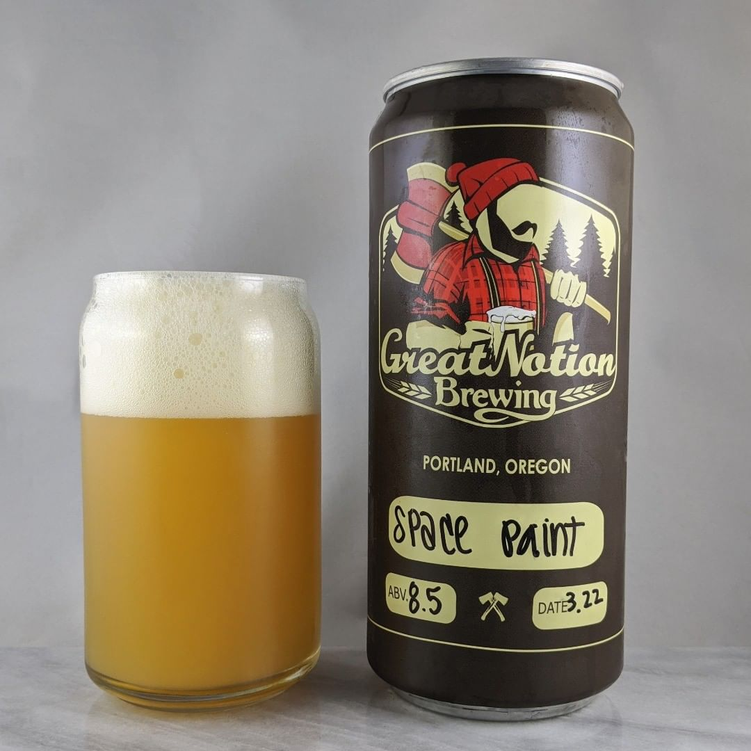 ????: Space Paint ?????: DIPA ???: 8.5% ???: – ????: Nelson Sauvin and Galaxy ———————————– ???????: Great Notion Brewing – Portland, OR ??????? ??: @greatnotionpdx ———————————– ??????: 4.25/? ?????: Nice and smooth. Easy to drink with not much bitterness. Not sweet. Very tasty.  ??? ???: Standard Great Notion crowler.  ????????: 5 days after date on crowler.