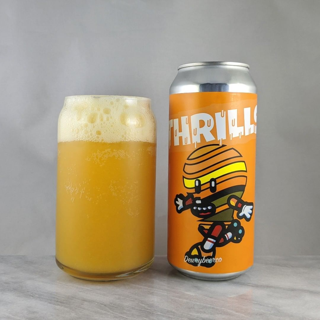 ????: Thrills – Peach, Pineapple, Macadamia Nut ?????: Fruit/Sour ???: 4% ???: – ????: ? ———————————– ???????: Dewey Beer Company – Dewey Beach, DE ??????? ??: @deweybeerco ———————————– ??????: 4/? ?????: A beer with macadamia nuts… interesting. I don't much of the nut over the pineapple and peach but it's very tasty. I'm enjoying it. Sweet and no hops.  ??? ???: Ok. Looks like a lightbulb on roller skates. Sure thing. ????????: No date on can.