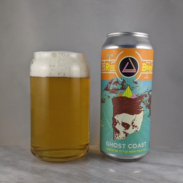 "????: Ghost Coast ?????: IPA ???: 7.2% ???: – ????: Citra ———————————– ???????:  Ruse Brewing – Portland, OR ??????? ??: @ rusebrewing ———————————– ??????: 4/? ?????: A nicely malted, clean and clear IPA. Some good citrus flavor from those ""juicy-dank citra"" hops.  ??? ???: Super unique designs from @showdeer on all the Ruse stuff including this one.  ????????: 4 days after date on can."