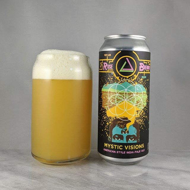 𝐁𝐞𝐞𝐫: Mystic Visions 𝐒𝐭𝐲𝐥𝐞: IPA 𝐀𝐁𝐕: 7.5% 𝐈𝐁𝐔: – 𝐇𝐨𝐩𝐬: Strata, Mosaic, and El Dorado ———————————– 𝐁𝐫𝐞𝐰𝐞𝐫𝐲:  Ruse Brewing – Portland, OR 𝐁𝐫𝐞𝐰𝐞𝐫𝐲 𝐈𝐆: @ rusebrewing ———————————– 𝐑𝐚𝐭𝐢𝐧𝐠: 4.25/𝟓 𝐍𝐨𝐭𝐞𝐬: Ruse is killing it with the smooth and easy to drink hazys. This one was on point and solid. Some hop bitterness but very minimal. Not sweet.  𝐂𝐚𝐧 𝐀𝐫𝐭: @showdeer does a great job at these unique designs.  𝐃𝐫𝐢𝐧𝐤𝐚𝐠𝐞: 4 days after date on can.
